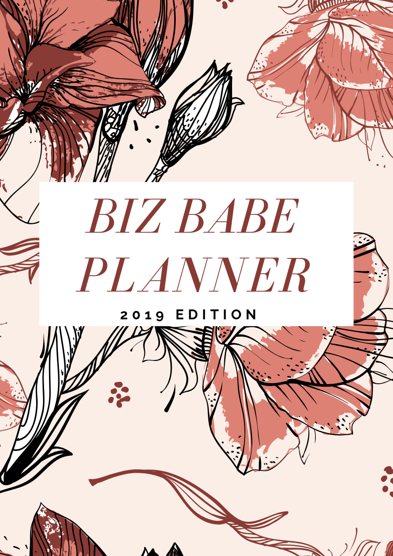 Pink Floral Project Schedule Planner